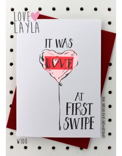 First Swipe | Love Layla Novelty Cards and Gifts