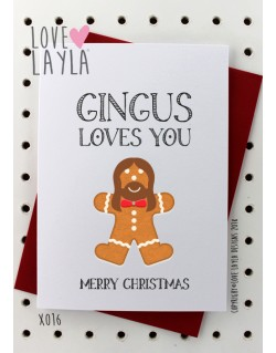 Gingus Loves You | Love Layla Novelty Cards and Gifts