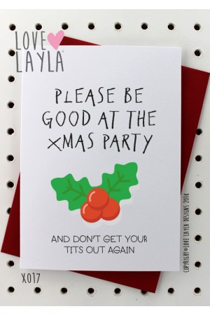 Don't Get Your Tits Out Again | Love Layla Novelty Cards and Gifts