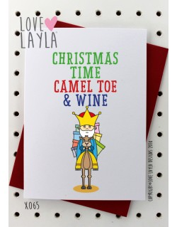 Christmas Time Camel Toe & Wine | Love Layla Novelty Cards and Gifts