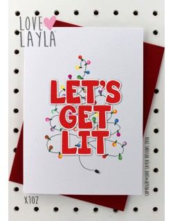 Let's Get Lit | Love Layla Novelty Cards and Gifts