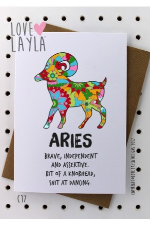 Aries | Love Layla Novelty Cards and Gifts