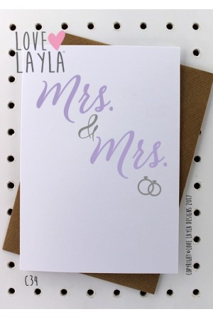 Mrs & Mrs | Love Layla Novelty Cards and Gifts