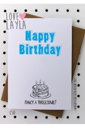 Fancy a Threesome? | Love Layla Novelty Cards and Gifts