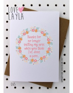 Sniffing My Arse | Love Layla Novelty Cards and Gifts