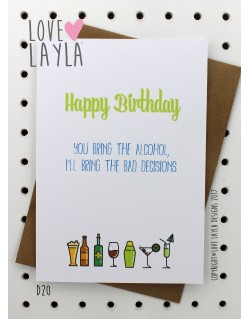 Bad Decisions | Love Layla Novelty Cards and Gifts