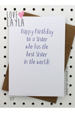 Best Sister | Love Layla Novelty Cards and Gifts