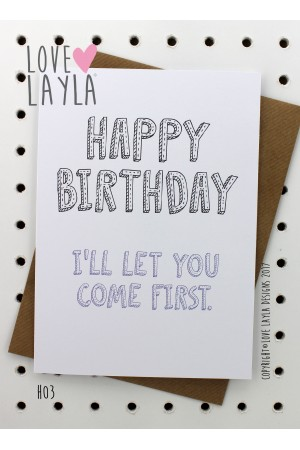 Come First | Love Layla Novelty Cards and Gifts