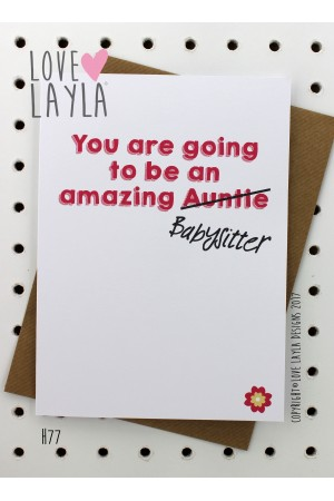 Auntie To Be | Love Layla Novelty Cards and Gifts