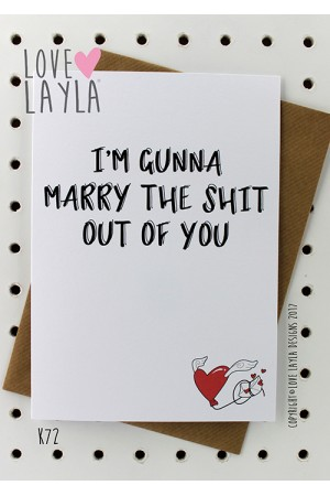 Marry the Shit | Love Layla Novelty Cards and Gifts