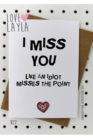 Like an Idiot | Love Layla Novelty Cards and Gifts