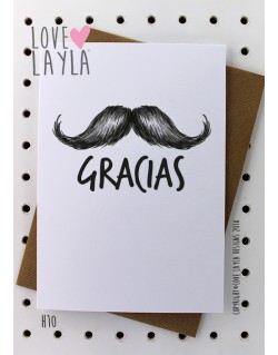 Muchas Gracias | Love Layla Novelty Cards and Gifts