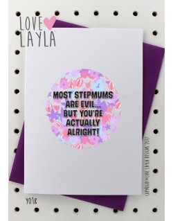 Evil StepMum | Love Layla Novelty Cards and Gifts