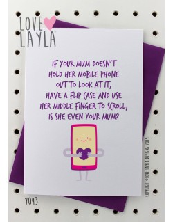 Mum Mobile Phone | Love Layla Novelty Cards and Gifts