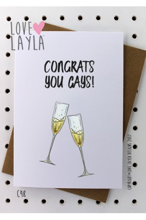Congrats You Gays | Love Layla Novelty Cards and Gifts