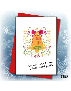Half Arsed Jingle | Love Layla Novelty Cards and Gifts