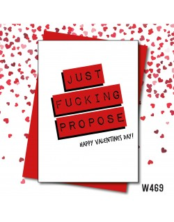 Just Fucking Propose | Love Layla Novelty Cards and Gifts