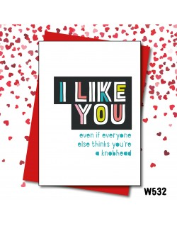 Thinks you're a knobhead  | Love Layla Novelty Cards and Gifts