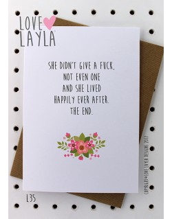 No Fucks Given | Love Layla Novelty Cards and Gifts